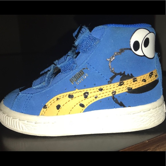 c28d396cf36499 ... toddlers basket ses cookie monster shoes blue lzvicaj8 larger image · sesame  street cookie monster slippers ebay · cookie monster high top puma ...